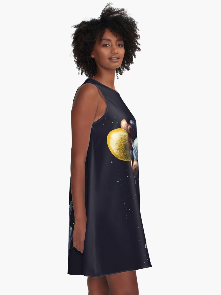 Alternate view of Space Travel A-Line Dress