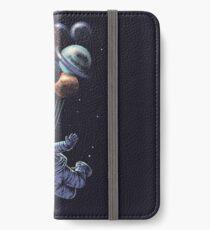 Raumfahrt iPhone Flip-Case/Hülle/Klebefolie
