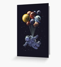Space Travel Greeting Card