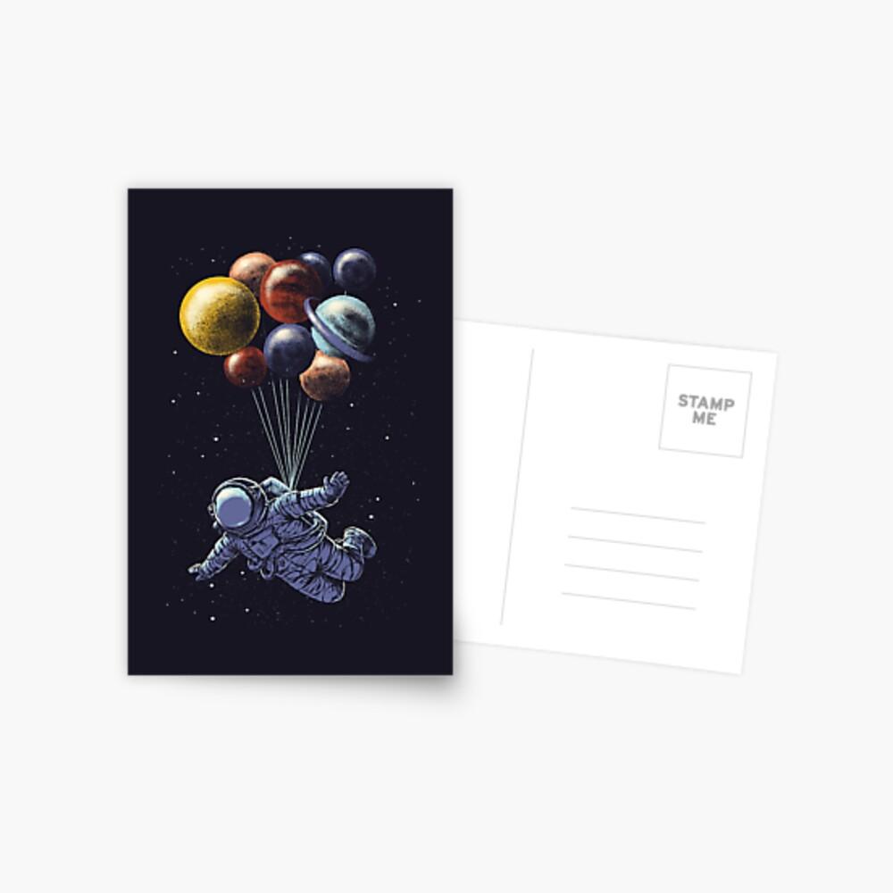 Viaje espacial Postal