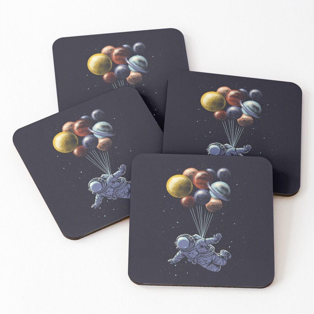 Space Travel Coasters (Set of 4)