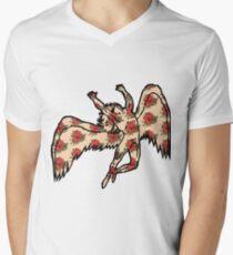 Led Zeppelin Angel with Roses Men's V-Neck T-Shirt