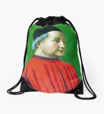 Domenico Ghirlandaio Portrait of a Man Drawstring Bag