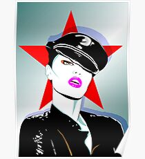 Girl In A Leather Cap Poster
