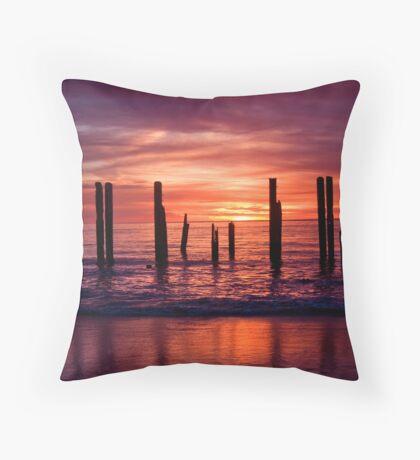 Port Willunga Jetty Throw Pillow
