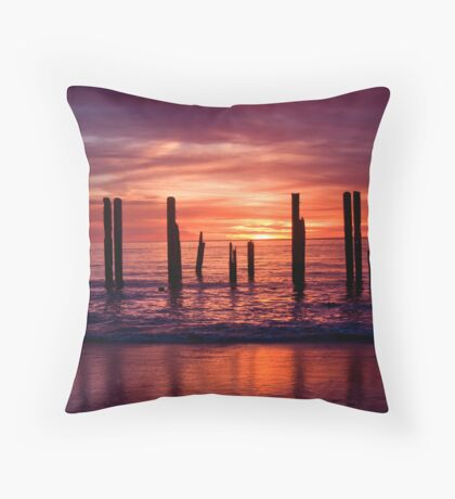 Port Willunga Jetty Throw Pillow