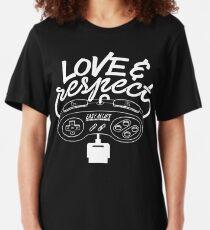 Love & Respect - SNES White Slim Fit T-Shirt