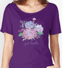 Just Breathe Hydrangeas Women's Relaxed Fit T-Shirt