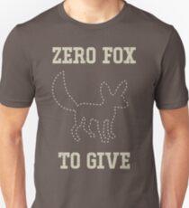 Null Fox zu geben Unisex T-Shirt