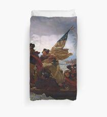 Washington, welches die Delaware-Malerei kreuzt Bettbezug