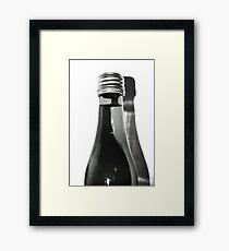 Black & White Bottle Framed Print