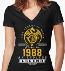 The Legend Is Alive - Born In 1988 Women's Fitted V-Neck T-Shirt
