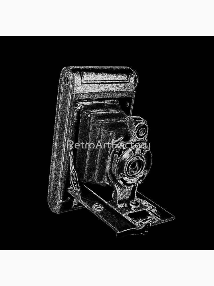 Kodak Hawkeye Camera with White Outline by RetroArtFactory