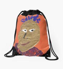 L'africain - Martin Boisvert - Faces à flaques Drawstring Bag