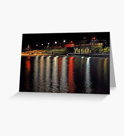 Cottesloe Beach At Night  Greeting Card