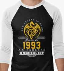The Legend Is Alive - Born In 1993 Men's Baseball ¾ T-Shirt