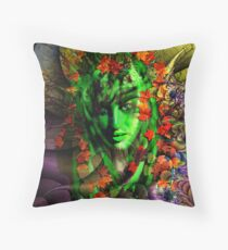Portrait of a Night Elf Throw Pillow