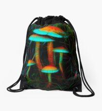 Psychedelic Mushrooms Drawstring Bag