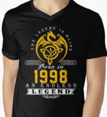The Legend Is Alive - Born In 1998 Men's V-Neck T-Shirt
