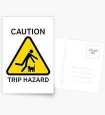 """Hazkatz """"Trip Hazard"""" Postcards"""