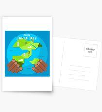 afrikanischer glücklicher Tag der Erde Postkarten