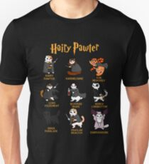 Vintage Funny Hairy Pawter For Cat Lovers  Unisex T-Shirt