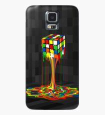 Rainbow melted rubiks cube Abstract Case/Skin for Samsung Galaxy
