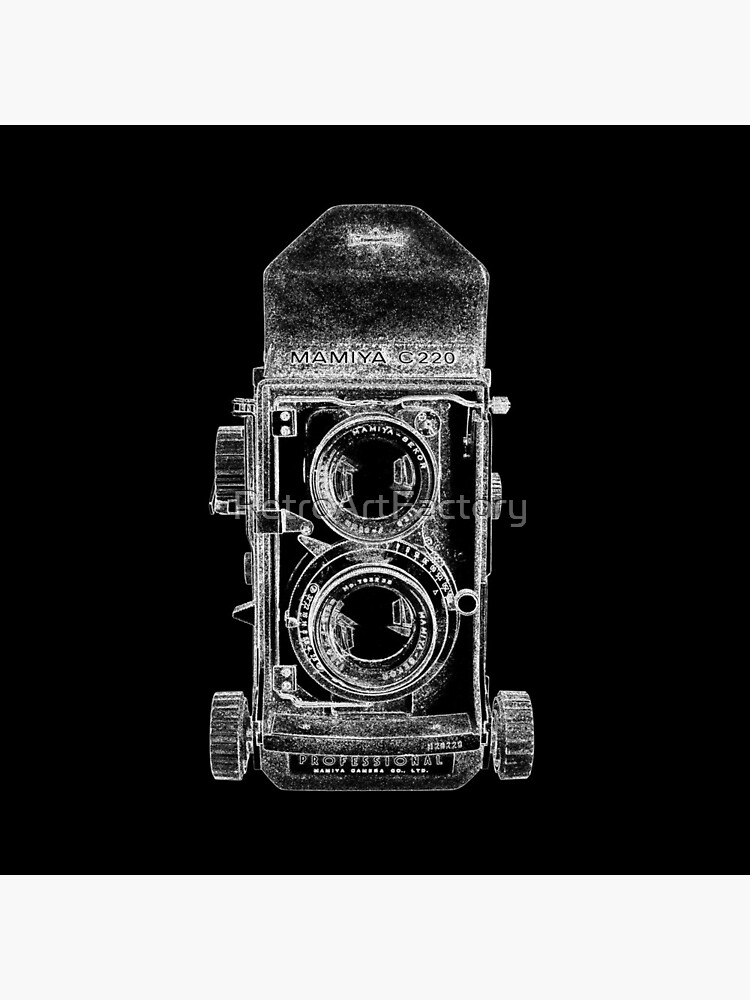 Mamiya C220 with White Outline by RetroArtFactory