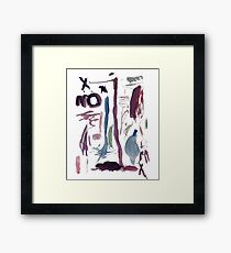No Treasure Original Child's Painting By Kennedy's Awesome Designs Framed Print