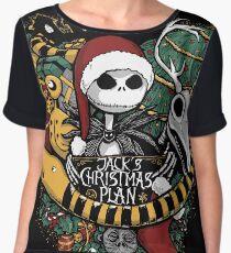 Jack's Christmas Plan Chiffon Top
