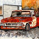 Chevy old antique truck painting by derekmccrea