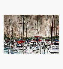 sailboats nautical art painting Photographic Print