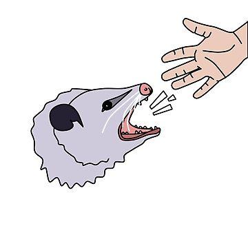 Opossum hiss by jijiru
