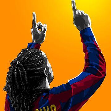Ronaldinho Gaúcho - Barcelona - Brazil by barrymasterson