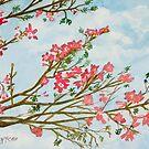 silk floss tree flowers art print by derekmccrea
