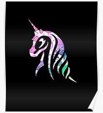 Paisley Rainbow Unicorn Poster