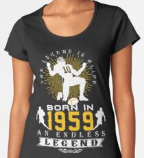 The 'Football' Legend Is Alive - Born In 1959 Women's Premium T-Shirt