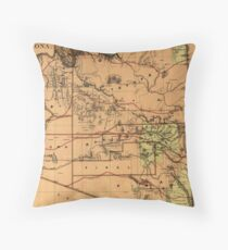 Vintage Map of Arizona (1876) Throw Pillow