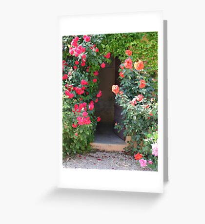 Hidden with Roses Greeting Card
