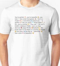 Aja 'Linda Evangelista' meme Unisex T-Shirt