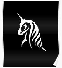 White Unicorn Poster
