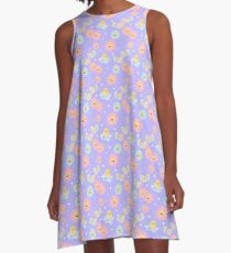 Violet Spring and Flowers A-Line Dress