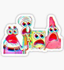 Trippy Spongebob Sticker