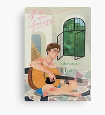 Call me by Your Name Drawing - Elio  Metal Print