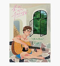 Call me by Your Name Drawing - Elio  Photographic Print