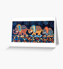 'Elephant Conga Line' - The Jungle is Jumping! Greeting Card
