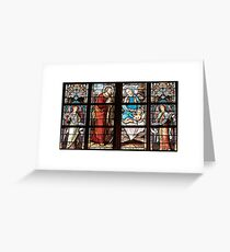 Stained-Glass Joseph, Mary & Jesus Greeting Card