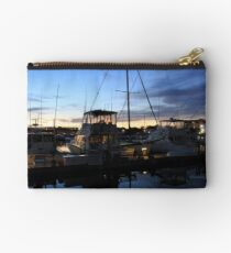 Fishing Boats ~ Waterfront Evening  Studio Pouch