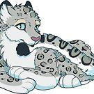 Snow Leopard Sticker by N E T H A R T I C