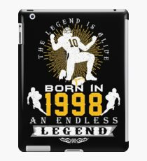 The 'Football' Legend Is Alive - Born In 1998 iPad Case/Skin